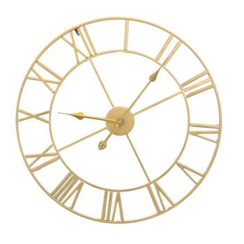 Żelaza cichy ścienny zegar prosty na ścianę zegar ozdobny domu dekoracyjne zegar ścienny Living Room zegar ścienny (złoty zarodek złoty szwów) tanie i dobre opinie CN (pochodzenie)