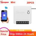 1/2/3/5/6/8/10/20 шт Sonoff Mini Wifi Smart 2 Way DIY Переключатель умный дом пульт дистанционного управления таймер переключатель работа с Alexa Google Home