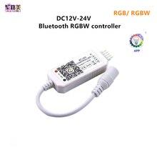 魔法の家のDC5V 12v 24v bluetoothワイヤレス無線lanコントローラ、rgb/rgbw ir rf ledコントローラ5050 WS2811 WS2812Bピクセルledストリップ