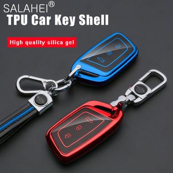 Nowy miękki TPU obudowa kluczyka do samochodu etui na cały telefon dla Baojun E200 E300 RS3 RS5 RS7 RC5 RC6 RM5 RMC RS-3 RS-5 RS-7 RC-5 RC-6 akcesoria samochodowe tanie i dobre opinie salahei CN (pochodzenie) Car Key Case red blue pink silver Protection