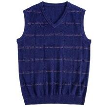 MACROSEA Мужская Роскошная Высококачественная брендовая одежда дизайн клетчатый узор жилет свитер мужской вязаный Повседневный шерстяной жилет пуловер 1806
