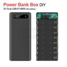 5V double USB 8*18650 batterie batterie boîte avec affichage haute capacité 18650 USB chargeur bricolage coque étui pour IPhone Samsung Huawei
