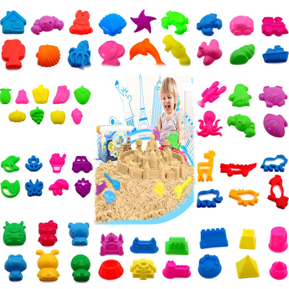 Children Space Sand Mold Tool Colorful Sand Toy With Tools For Dynamic Educational Sand Castle Mold Accessories Tool