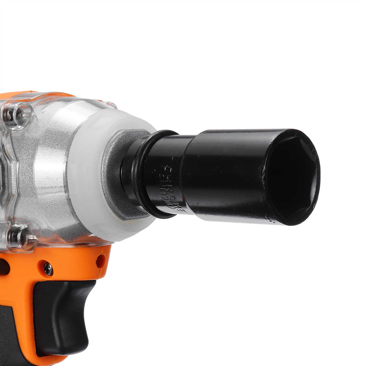 """18V Brushless Cordless Impact Electric Wrench 520 N.m Torque 1/2"""" Socket Wrench Power Tool for Household Car Wheel"""