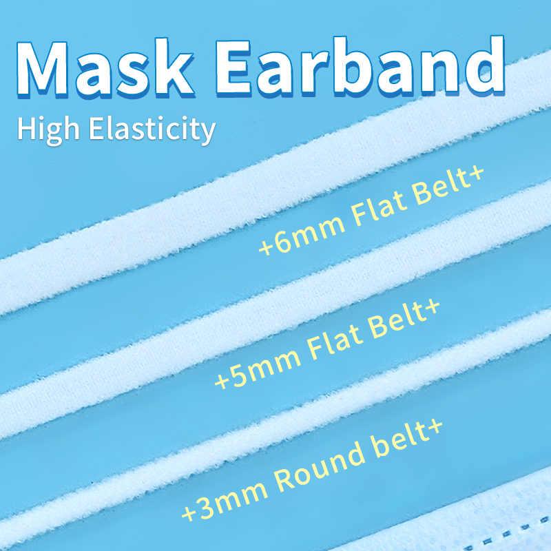 Yama Elastische Band 3 Mm Ronde Riem 5 Mm/6 Mm Platte Riem Witte Elastische Touw 10Yards/roll Oorband Handgemaakte Diy Masker Accessoires