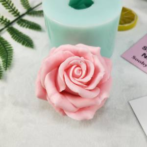 3D Silicone Mold Cupcake Baking-Tools Jelly Flower-Shape Rose Candy-Decoration Soap-Making