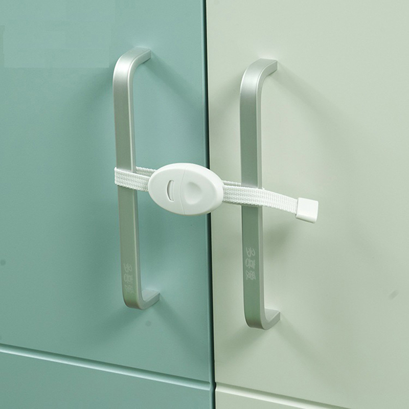 2Pcs Baby Safety Locks Furniture Restrictor Kids Protection Cupboard Cabinet Fridge Door Lock