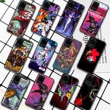 Genesis Evangelion NGE EVA Phone Case For Samsung Galaxy S Note 6 7 8 9 10 E 20 UITRA FE 21 Plus Edge black Funda Fashion Etui