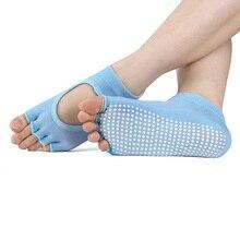 1 Pair Women Professional Anti Five Fingers Slip Bandage Socks Ladies Ventilation Sports Pilates Ballet Dance Sock