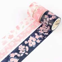 3pcs/box Japanese Sakura Cherry Blossom Scrapbooking DIY Pink Washi Tape Bullet Journaling Decoration Masking