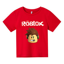 2021 Summer Boys Cartoon Cosplay Robloxing T-Shirt Girls Streetwear Children Kids Clothes Funny T Shirts O-Neck