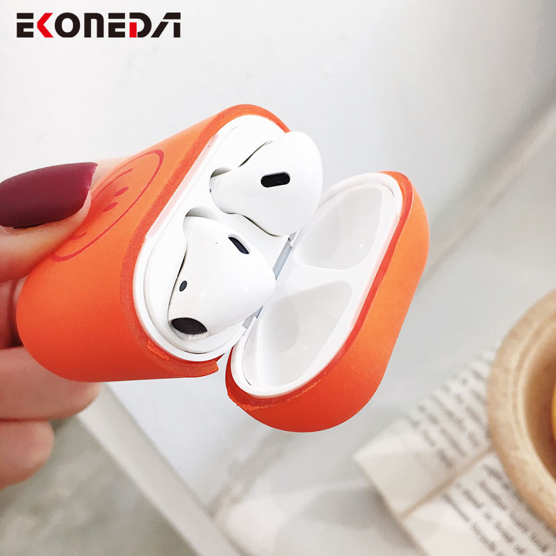 EKONEDA Simple Funny Patterned Earphone Case For Airpods Plastic Hard Protective Case For Airpods 2 Cover