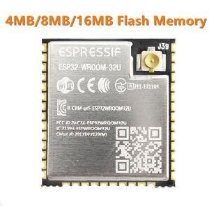 Image 1 - ESP32 WROOM 32U 4 mo 8 mo 16 mo mémoire Flash wi fi + BT + BLE ESP32 Module IPEX connecteur dantenne Espressif Original