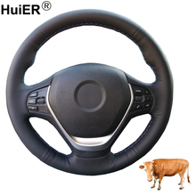 Hand Sewing Auto Car Steering Wheel Cover Top Cow Leather For BMW 316i 320i 328i 320d F20 F21 F22 F23 F30 F31 F34 F32 F33 F36