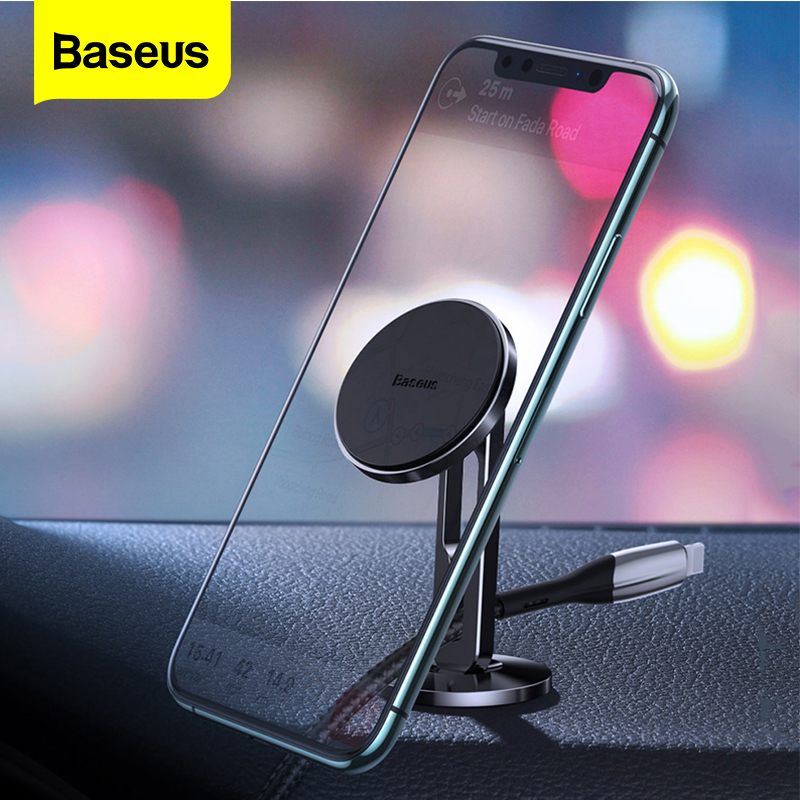 Baseus Magnetic Car Phone Holder For iPhone 11 pro Max Samsung Xiaomi Auto Mobile phone Support Mount Car Stand Cable Organizer|Phone Holders & Stands| |  - title=