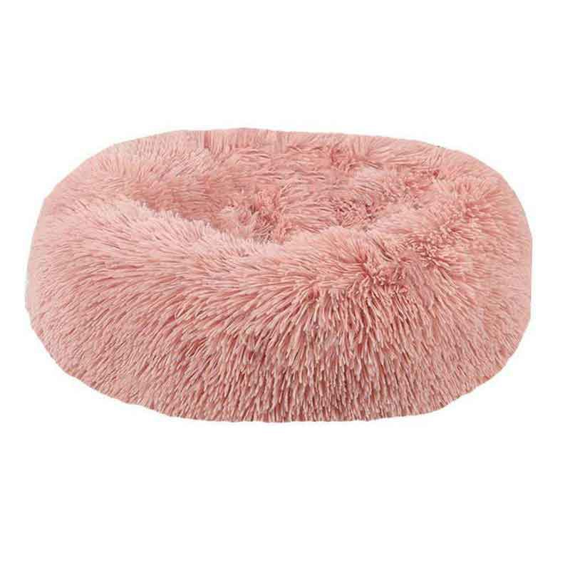 Image 4 - Panier Chat Round Washable Dog Bed Soft Cat House Pet Beds For Dogs House Cat Haustiere Chat Panier Long Plush Dog bed pet dog-in Houses, Kennels & Pens from Home & Garden
