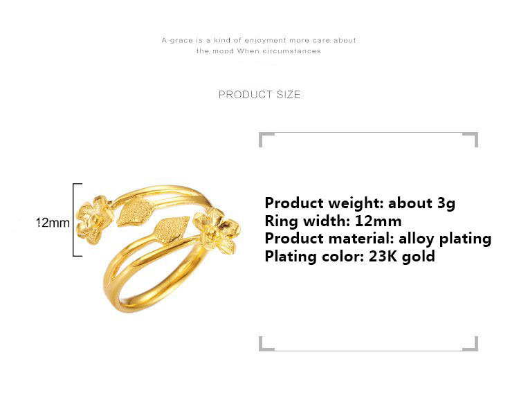 New  Fashion African Arab Women's Flowers Rings Middle East Glamour Party Wedding Gifts Ethiopian Big Gold female Jewellery