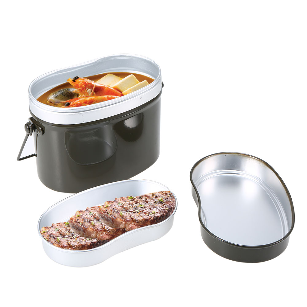 Image 5 - Outdoor Tableware Outdoor Stove Mess Tin Set Military Lunch Box Hiking Camping Lunch Case Pot Bowl Cookware Survival BentoOutdoor Tablewares   -