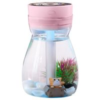 Cute Cool Mist Humidifier Office Bedroom Air Purifier Usb Charging Kawaii Air Humidifier With Led Light Air Moisturizing Bottle( Humidifiers     -