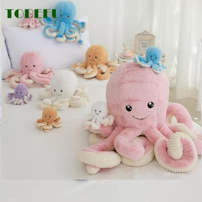 Octopus Doll Plush Toy Simulation Octopus Pendant Plush Stuffed Toy Soft Animal Home Accessories Cute Animal Doll Children Gifts
