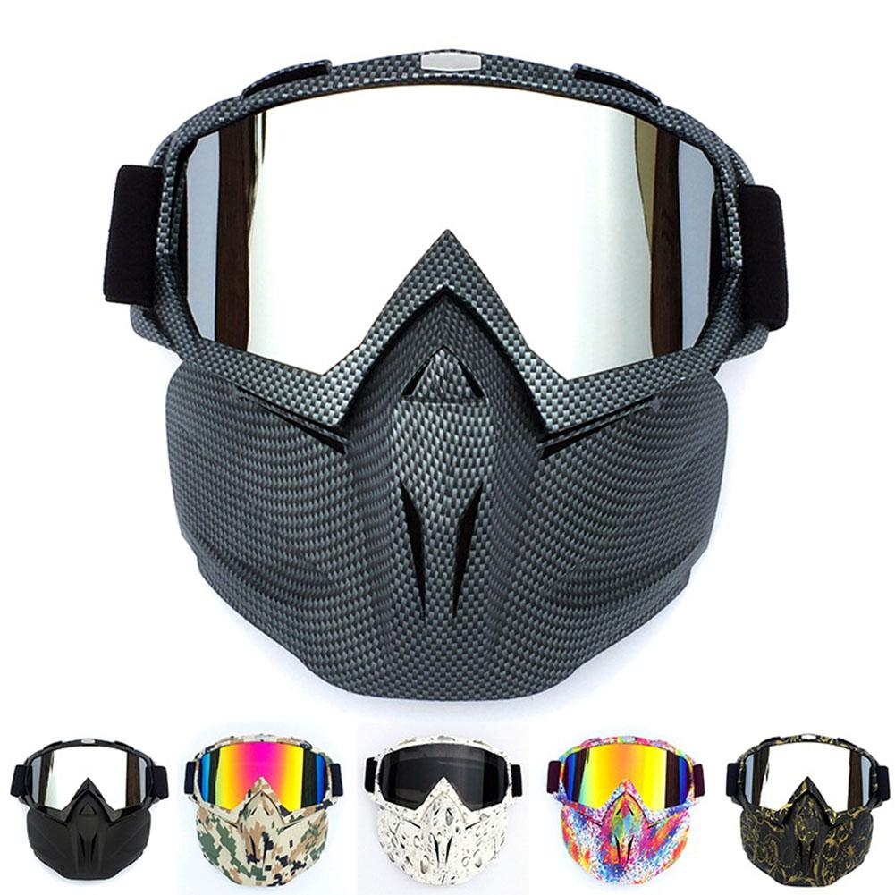 Outdoor Cycling Skiing Full Cover Mask Goggles Motorcycle Ski Snowboard Snowmobile Face Mask Shield Glasses Eyewear LENS Goggle