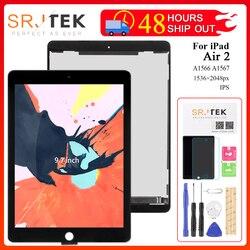 For iPad Air 2 LCD A1567 Display Touch Screen A1566 Replacement For iPad 6 Air 2 LCD Digitizer Matrix Screen Assembly Air2 Parts