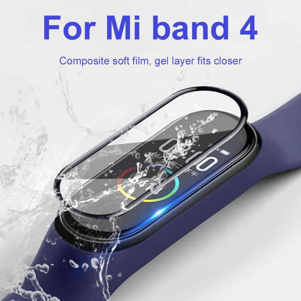 Glass For Xiaomi Mi Band 4 Protector Soft Film For Mi Band 4 Strap Mi Band Screen Protection Case Protective Smart Accessories