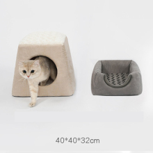 2 in 1 Cat House Pet Bed Dog Mats  Sofa Products Luxury Cozy Cushion Kitten Shop