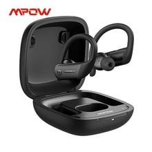 Mpow Vlam Lite Draadloze Bluetooth Hoofdtelefoon Met IPX7 Waterdichte 30H Speeltijd Bass Oorhaak Oortelefoon Voor Gym Smartphone Oordopjes