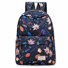 Printing Backpack Canvas Bag Fashion Women Backpack School Bags for Teenagers Durable Laptop Backpack Girl & Boy Travel Bag laptop backpack black women notebook women laptop bag school bags for teenagers travel business office worker z192
