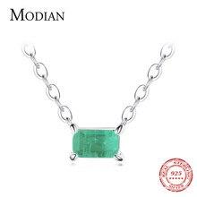 Modian-colgante de collar de turmalina para mujer, de Plata de Ley 925 auténtica, bisutería de moda, regalos de joyería declaración de boda