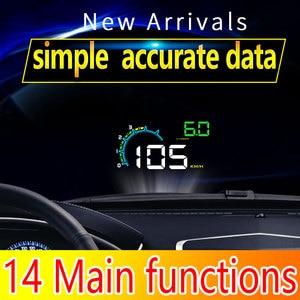 "Image 2 - HUD D3000 4 ""GPS 속도계 자동차 헤드 업 디스플레이 다기능 디지털 속도 고도계 보안 알람 HUD 헤드 업 디스플레이"