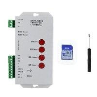 Nieuwe T1000S SD Kaart Pixel Controller voor WS2812B LPD8806 6803 WS2811 WS2801-in RGB Controlers van Licht & verlichting op