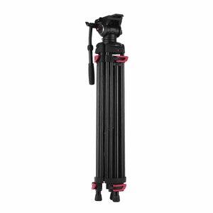 Image 3 - Andoer professionnel photographie trépied support Aluminium fluide hydraulique bol tête pour Canon Nikon Sony DSLR appareils photo