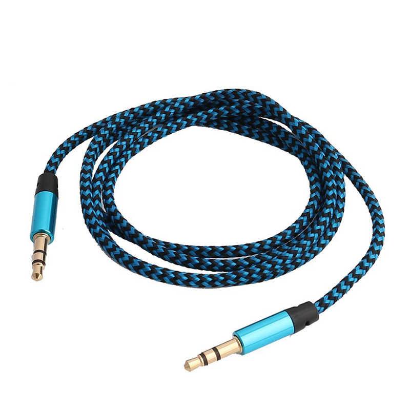 1m Nylon Aux câble 3.5mm prise mâle à mâle Jack Auto voiture Audio câble Kabel ligne cordon pour IPhone Xiaomi ordinateur TSLM1 TXTB1