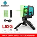 Mileseey Neue 2 Linien Green Laser Level L52R Professionelle Vertikale Kreuz Laser Leveler mit Batterie und Stativ лазерный уровень