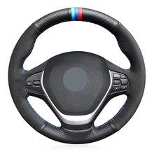 yuji hong top layer genuine cow leather car steering wheel covers case for bmw 320i m135i 2013 320d 335i 328i f20 f30 Black Suede Genuine Leather Car Steering Wheel Cover for BMW F20 2012-2018 F45 2014-2018 F30 F31 F34 2013-2017 F32 F33 F36 2014