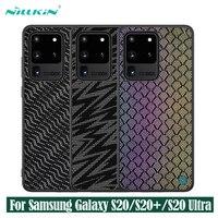 삼성 갤럭시 Samsung Galaxy s20 Ultra S20+ Plus 5G 커버에 대한 케이스 nillkin 반짝임 케이스 폴리 에스터 메쉬 반사 전화 보호대 삼성 Samsung s20에 대한 다시 커버