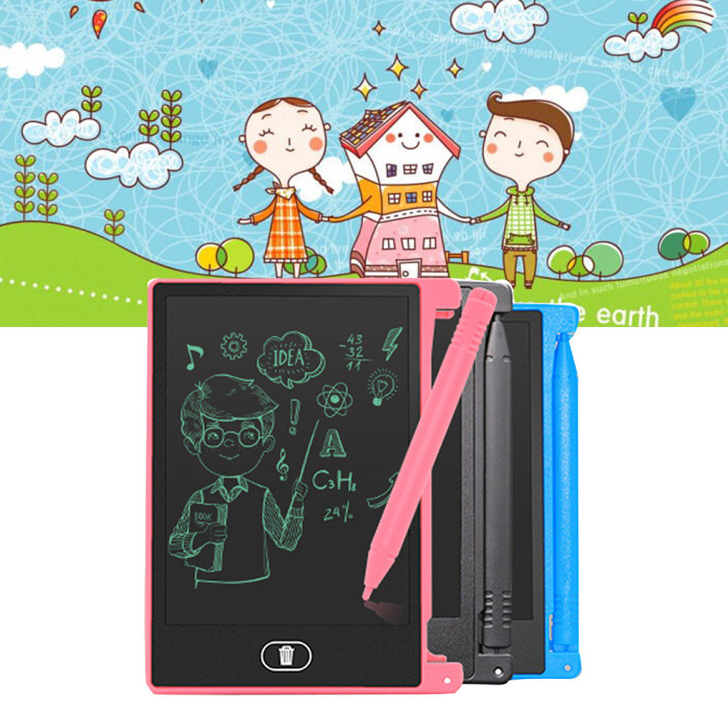 4.4-inch LCD EWriter Paperless Memo Pad Tablet Writing Drawing Board Learning Educational Kids Toys Juguetes Brinquedos игрушки