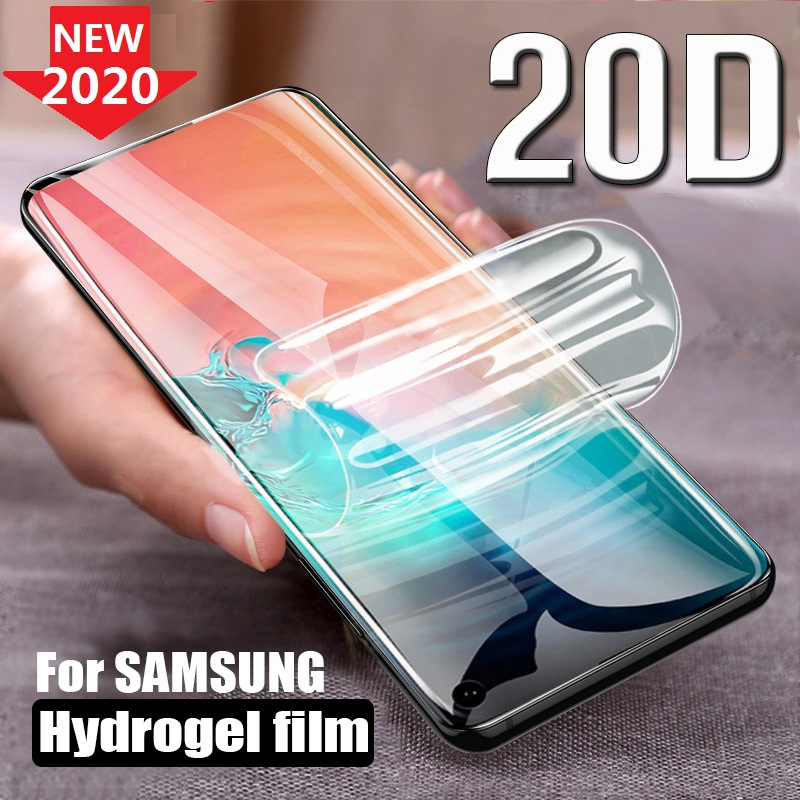 Protective Hydrogel Film for <font><b>Samsung</b></font> Galaxy S10 Plus 5G A51 <font><b>A50</b></font> A40 A20 S20 Note 10 Plus (Not <font><b>Glass</b></font>) Screen Protector Film Foil image