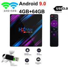 Newest Android 9.0 TV BOX H96 MAX Plus 4GB/32GB 4GB/64GB Smart TV Box RK3318 2.4G/5Ghz Wifi 4K H.265 Media Player Set top box 2019 best stable media player smart tv box netflix youtube h96max max rk3318 android tv box 2 4 5 0g wifi h 265 tv set top box