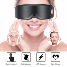 цена на USB Adjustable Electric Vibration Eye Massager Acupuncture Magnet Therapy Massage Glasses Relieve Eye Fatigue Eye Care Device