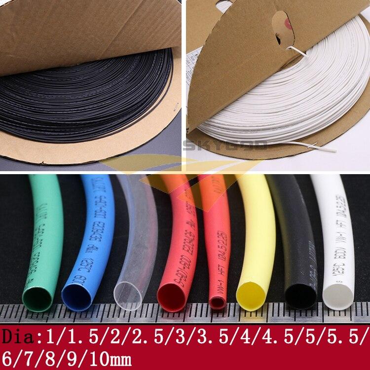 5 м диаметр 1 1,5 2 2,5 3 3,5 4 4,5 5 6 7 8 9 10 мм термоусадочная трубка 2:1 соотношение термоусадки Полиолефиновая Изолированная кабельная втулка|Кабельные рукава|   | АлиЭкспресс