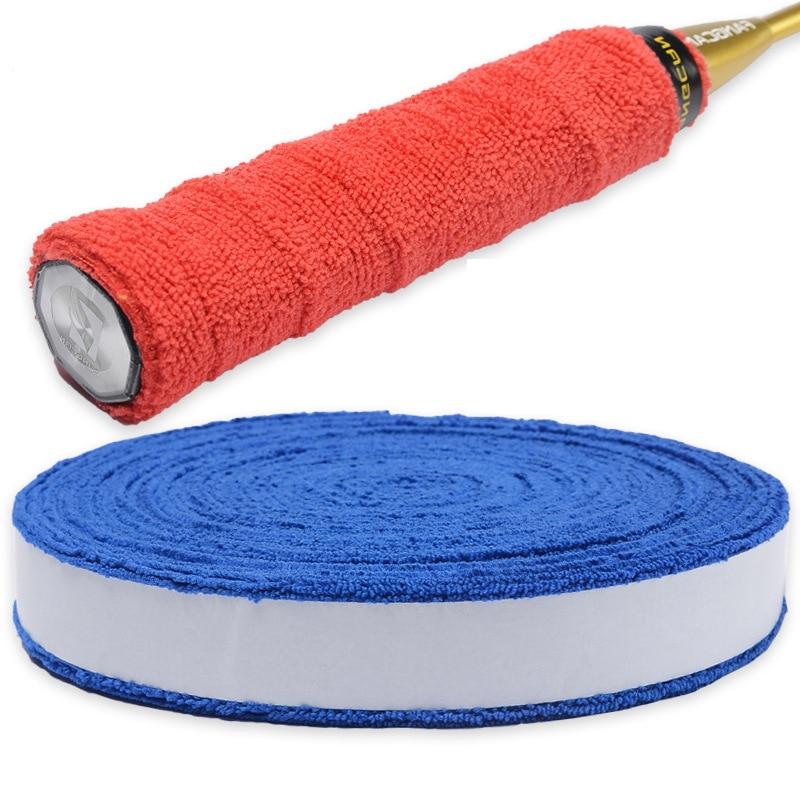Anti-slip Badminton Tennis Cotton Towel Hand Glue Grip Overgrips Badminton Racket Wool Sweat Band 5M