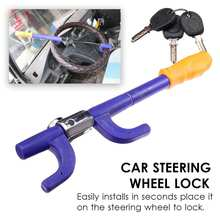 Lock Security-System Anti-Theft Steering-Wheel Safety Auto Car Key-Kit Truck Universal