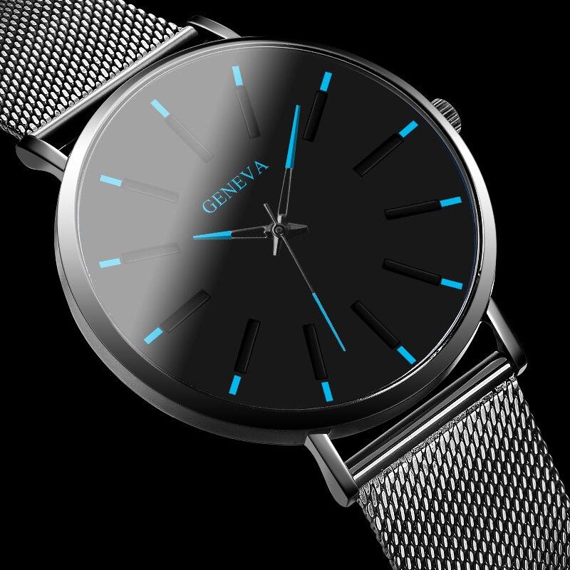 GENEVA Simple Women Watch Romantic Rose Gold Luminous Quartz Wristwatch Luxury Stainless Steel Ladies Watch Women's Watches