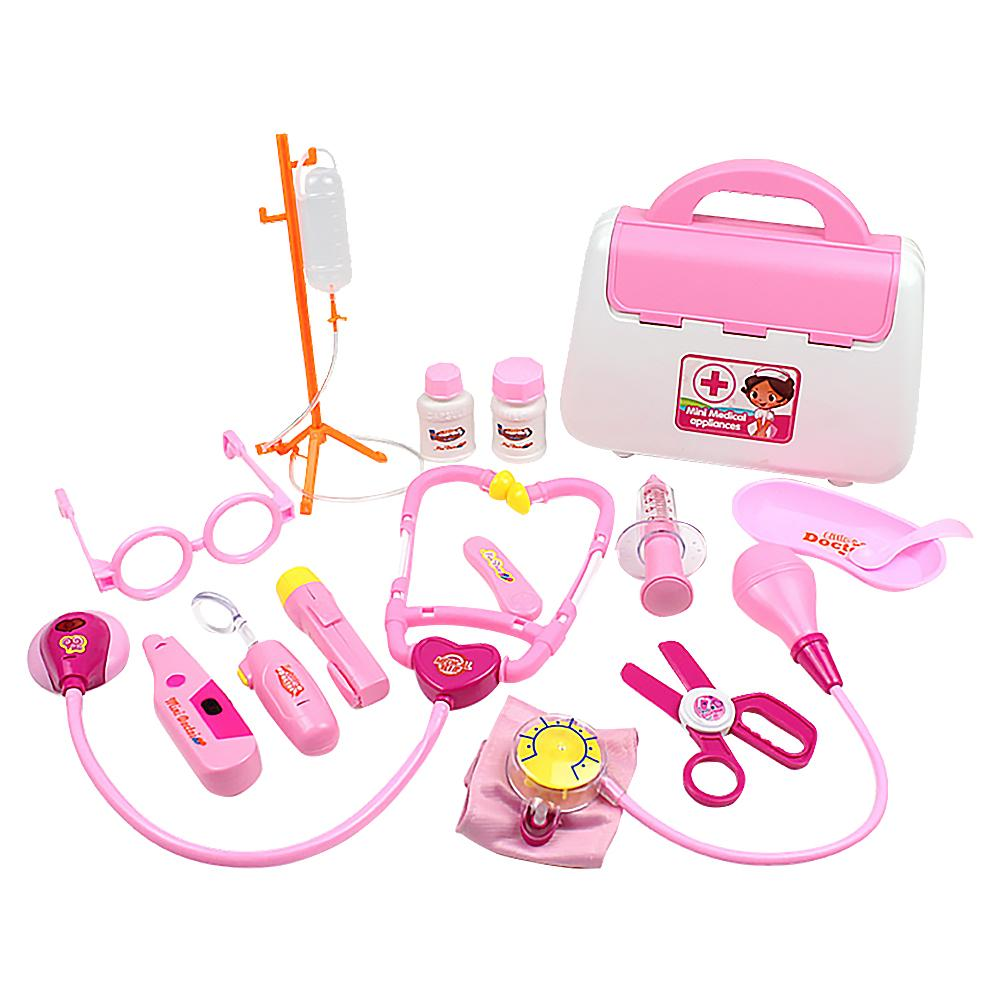15 Piece Set Kids Toys Doctor Kit Pretend To Play Dentist Medical Roleplay Tools For Children Christmas Holiday Gifts