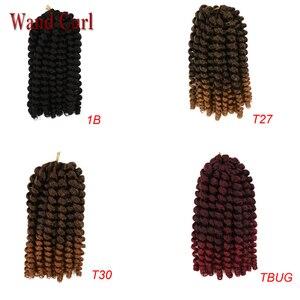 Image 4 - Bacchetta ricciolo trecce alluncinetto corti capelli di rimbalzo giamaicano bacchetta nera ricciolo donna trecce sintetiche estensioni dei capelli 20 radici/confezione