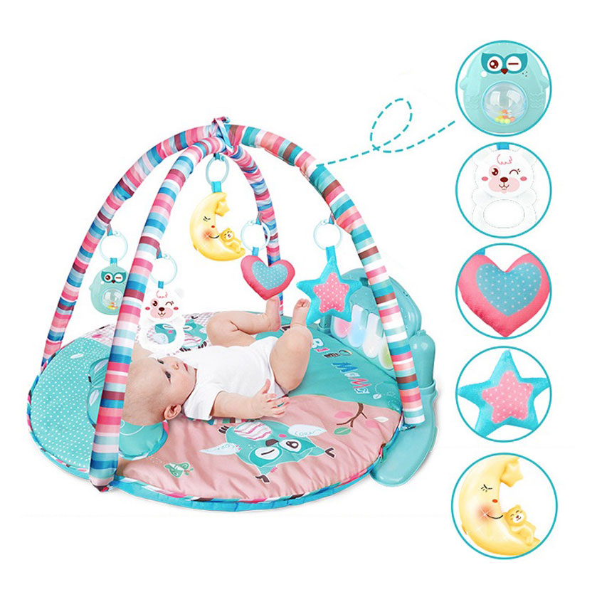 Baby Fitness Play Mat Musical Carpet With Piano Keyboard Music Early Educational Toys Infant Gym Play Crawling Pad Gift For Kids