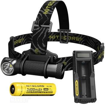 Discount Free Shipping NITECORE HC30 Headlamp + UM10 Charger 18650 Battery CREE XM-L2 U2 1000 Lumens Waterproof Flashlight Torch
